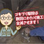 ゴキブリ殺虫施工(蒲郡市:旅館)※愛知県岡崎市、豊橋市は調査無料で対応します。