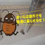 クロゴキブリ対策(豊橋市/個人宅)※愛知県岡崎市、豊橋市は調査無料で対応します。